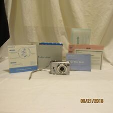 Sony Cyber-shot Dsc-W5 5.1Mp Digital Camera Silver Manual Cable and Wrist Strap