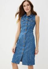 Levis Premium Aubrey Western Button Up Straight Fit Sleeveless Denim Dress - XS