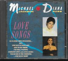 CD COMPIL 16 TITRES--MICHAEL JACKSON & DIANA ROSS--LOVE SONGS