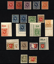 Lithuania 10c-3A 1919 M&U Center Shift Errors, Rare Imperfs 19 items