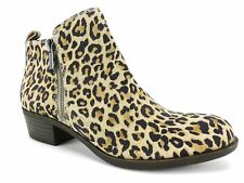 Lucky Brand Women's Basel Booties Natural Leopard Size 5.5 M