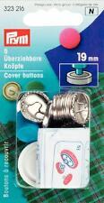 Prym Überziehbare Knöpfe mit Werkzeug 19 mm silber 5 St   323216
