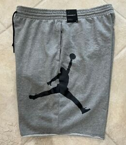 Nike Air Jordan 2020 Fleece Gray Training Shorts  DB1812-091 $45 Mens Large