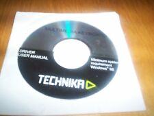 PC CD-rom technika driver/user manual for multimedia keyboard