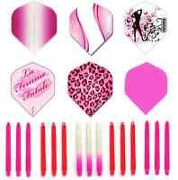 Darts. Pink Dart Flights and Shafts. Flights & Stems Set. Ruthless. 2Tone. (3)