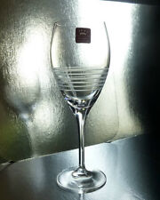 RCR Break Line 6 Wine Stems 9.75 oz Goblets, Blown Lead Crystal Stemware glasses