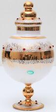 Venetian Glass Handmade In Italy Balboa Vase Ornate Design 12 Inches High