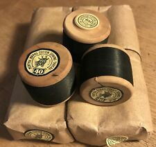 Gauge 40 Vintage Black MUNTYAK Brand Cotton Sewing Thread12 x 400yds