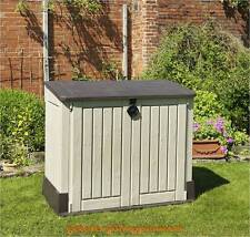 Plastic Storage Box Garden Outdoors Shed Furniture Waterproof Lawn Wooden Look