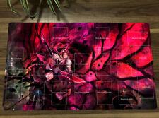 Yu-Gi-Oh! Akiza Izinski Black Rose Dragon Playmat Yugioh TCG CCG Play Mat & Bag