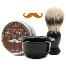Beard Shaving Gift Set for Men - Beard Shaving Soap, Beard Shaving Brush & Bowl
