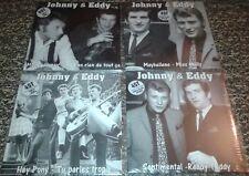 NEUF SCELLE LOT DE 4 VINYLES 45 TOURS JOHNNY HALLYDAY EDDY MITCHELL BLANC