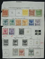 SAMOA, a collection of older stamps on 1 album page, mainly used condition.