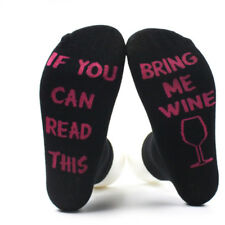 Cotton Women Men Socks If You can read this Bring Me A Beer A Wine A Coffee Gift