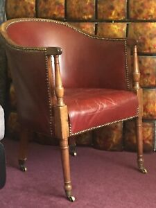 Leather Victorian Antique Chairs