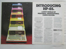 2/1980 PUB HP HEWLETT PACKARD HP CALCULATOR HP-85 CALCULATRICE ORIGINAL AD