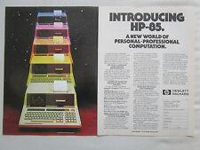 2/1980 PUB HP HEWLETT PACKARD HP CALCULATOR HP-85 CALCULATRICE ORIGINAL AD