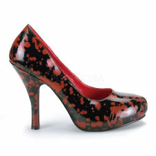 Leather Slim Party Multicoloured Heels for Women