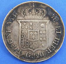 Italy 120 Grana 1834 Naples 83% Silver Coin