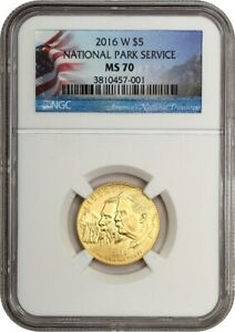 2016-W National Parks $5 NGC MS70 - Modern Commemorative Gold