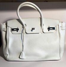 Birkin bolso blanco usado 35cm 40cm Grande