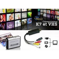 Adaptateur Convertisseur Acquisition Vidéo Audio USB VHS Camescope HD Easy Neuf
