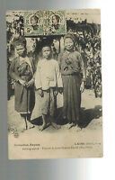 1910 Vietnam RPPC Real Picture Postcard Cover To Spain Natives in Laos
