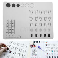 Nail Art Soft Silicone WorkSpace Stamping Plate Transfer Mat Sheet Table 40x30cm