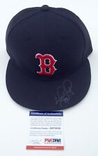 DAVID ORTIZ SIGNED BOSTON RED SOX NEW ERA BASEBALL HAT PSA COA AD74532