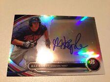 Max Kepler 2013 Bowman Platinum RC Refractor Autograph on Card Minnesota Twins