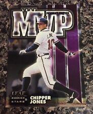 1998 Leaf Rookies & Stars Leaf MVP's Pennant Edition 13 Chipper Jones 289/5000