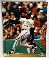Frank Thomas signed photo chicago white sox baseball autographed beckett coa