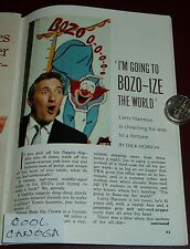 1966 TV ARTICLE~LARRY HARMON is BOZO THE CLOWN~TRAVELS 8000 MILES A WEEK