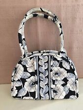 Vera Bradley Camellia Eloise Handbag Purse Bag Gray Flowers Kisslock Clasp