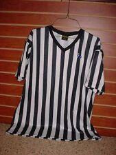 Striped Referee Shirt Bright-Line Basketball Football Size L Costume - Lot Pp