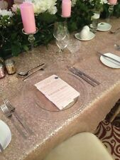 **HIRE ONLY**   Wedding Gold & Glass Charger Plates Cumbria  South West Scotland