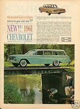 1960 Print Ad for 1961 Chevrolet Chevy Biscayne & Nomad Wagon