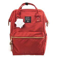 anello Dark Orange Japan Unisex Fashion Backpack Rucksack Diaper Travel Bag