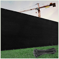 Colourtree 4' X 50' Black Fence Privacy Screen Windscreen Cover Fabric Shade