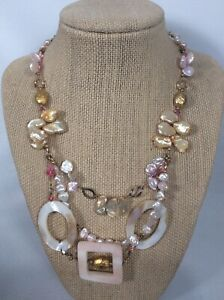 Tres Jolie  sterling Silver 925 Pearl 2 Strands necklace