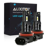 2X AUXITO H8 H11 H9 Fog Light 6000K White Super Bright LED Driving Bulb DRL CSP