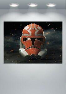 Star Wars Battlefront Trooper Helmet Large Poster Art Print in multiple sizes