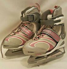 Bladerunner Dazzle 6.0 Ice Skates Fun Pnk Slvr White Girl's Adjustable Sz 11J-1