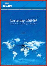 ANNUAL REPORT - KLM ROYAL DUTCH AIRLINES 1988-1989 - DUTCH