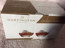 Par De 37cl vaso de cristal de plomo libre Dartington Colección de diseño.