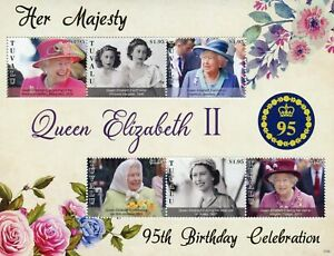 Tuvalu 2021 MNH Royalty Stamps Queen Elizabeth II 95th Birthday 6v M/S