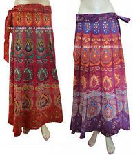 Floral Rapron Print Cotton Set of 2 Women Ethnic Long Skirt Wrap Around Skirt