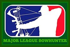 "3.25"" MAJOR LEAGUE BOWHUNTER Sticker / Decal. compound bow and arrow hunter."