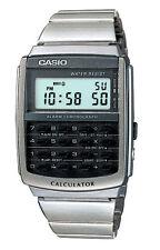 Casio Digital Casual Watch Calculator Silver Mens Ca-506-1d