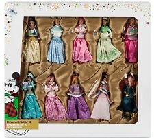 BRAND NEW 2017 DISNEY STORE 10pc PRINCESS DELUXE SKETCHBOOK ORNAMENT SET